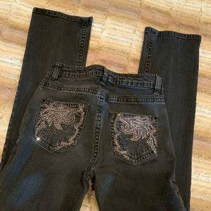 Reba black jeans straight leg